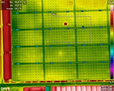 Thermographie panneaux solaires photovoltaïques