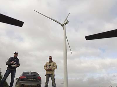 Inspection d'un parc éolien dans l'Aube