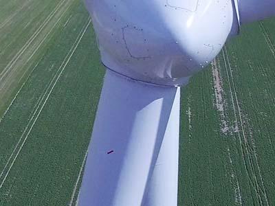 Inspection d'un parc éolien dans la Marne