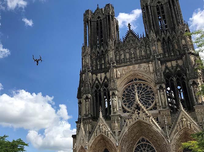 Intervention en 360 sur la ville de Reims