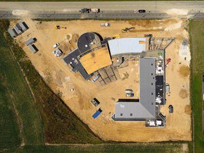 Photographies aériennes de chantiers en construction