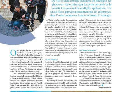 Drone Développement dans le CCI Mag de l'Aube