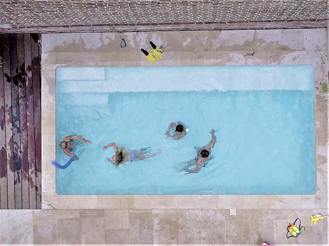 Suite du tournage du pisciniste Unibéo