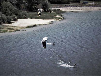 Kitesurf au lac de Lusigny, des images fabuleuses