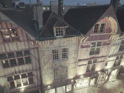 Troyes, tournage rue Emile Zola et sur la Mairie