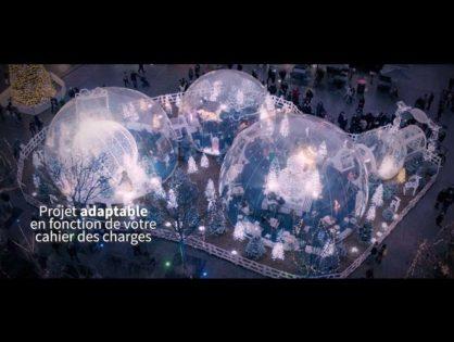 Les Bulles enchantées de Noël à Troyes, tournage pour Festilight