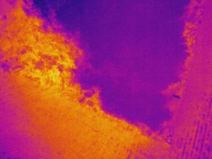 Recherche par camera infrarouge de cavités souterraines