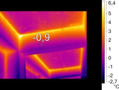Thermographie aérienne sur un bâtiment public