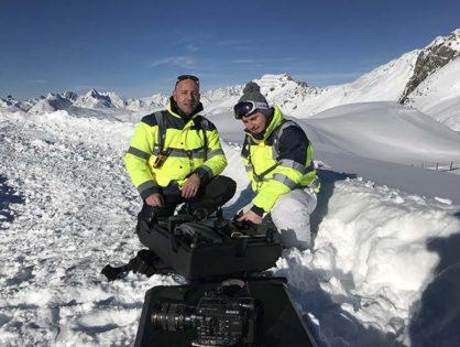 Tournage dans les Alpes