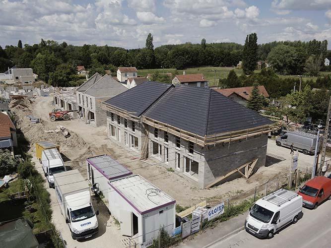 Photographies aériennes sur un chantier de promotion immobilière
