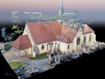 Photogrammétrie sur l'Eglise de Torvilliers (Aube)