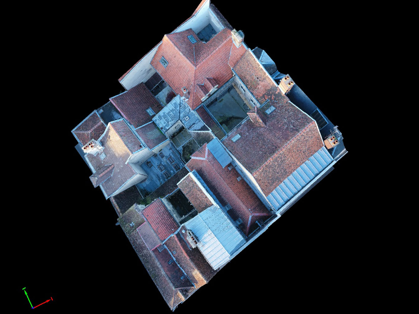 Photogrammétrie et inspection de toitures à Troyes