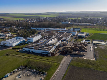 Photos multiples d'un site industriel